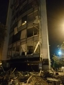 Balconies devastated by Beirut blast