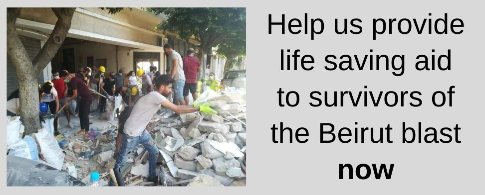 Help us provide life saving aid to survivors of the Beirut blast now