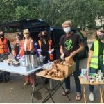 Volunteers ready to serve food at Holborn